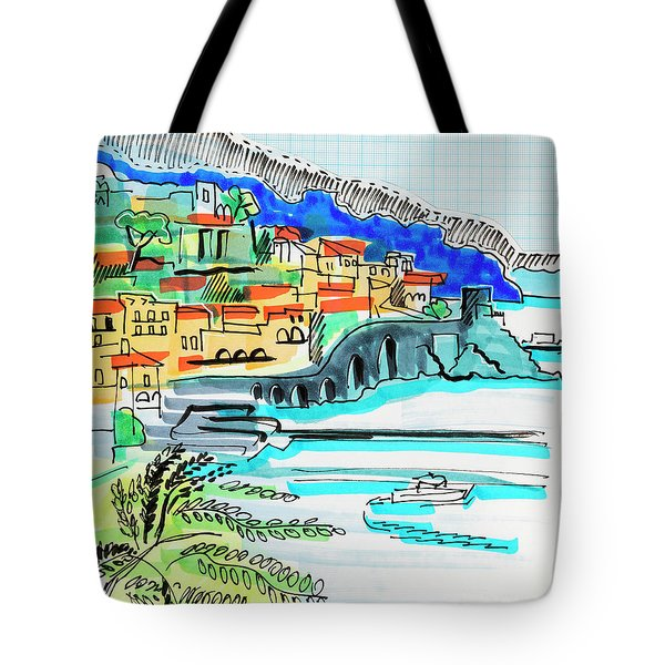illustration of travel, Spain Tote Bag