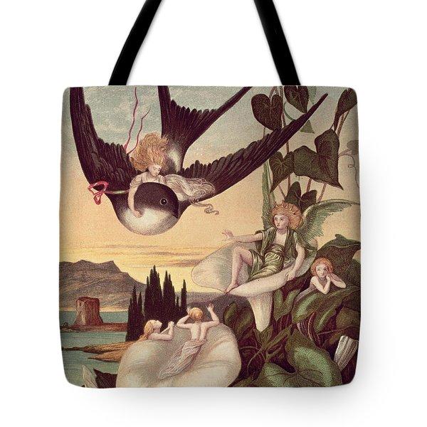 Illustration To 'thumbkinetta' Tote Bag