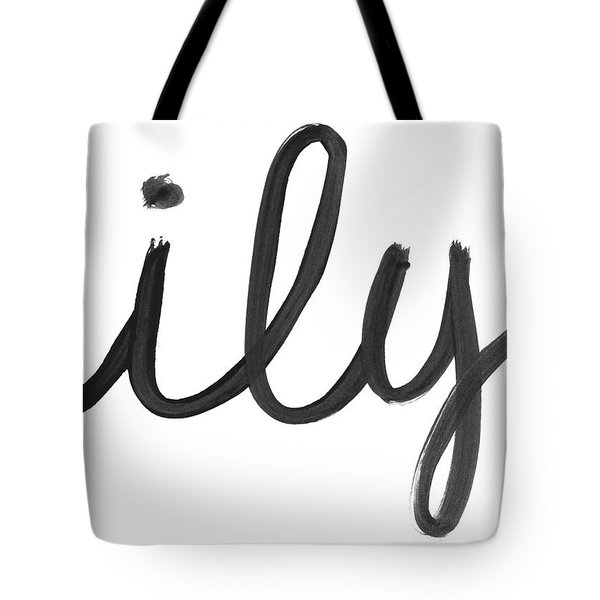 Tote Bag featuring the mixed media Ily- Art By Linda Woods by Linda Woods