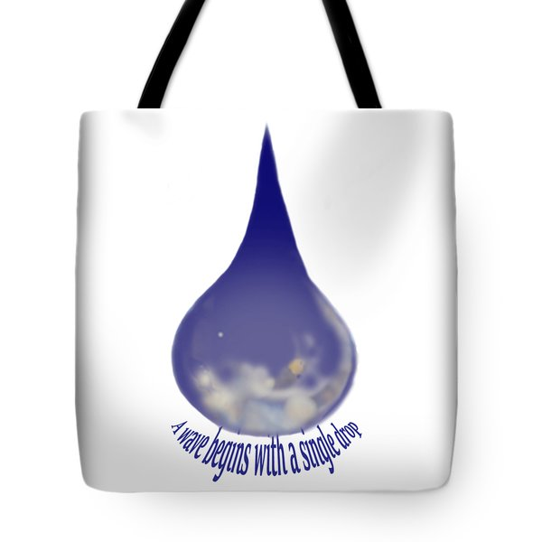 Tote Bag featuring the painting I'm A Drop. Join Me. by Kym Nicolas