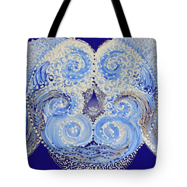 Tote Bag featuring the painting I'm A Drop In The Blue Wave. Join Me by Kym Nicolas