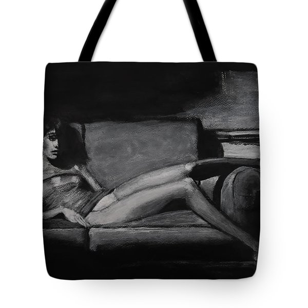 Tote Bag featuring the painting I'm In Here by Jarko Aka Lui Grande