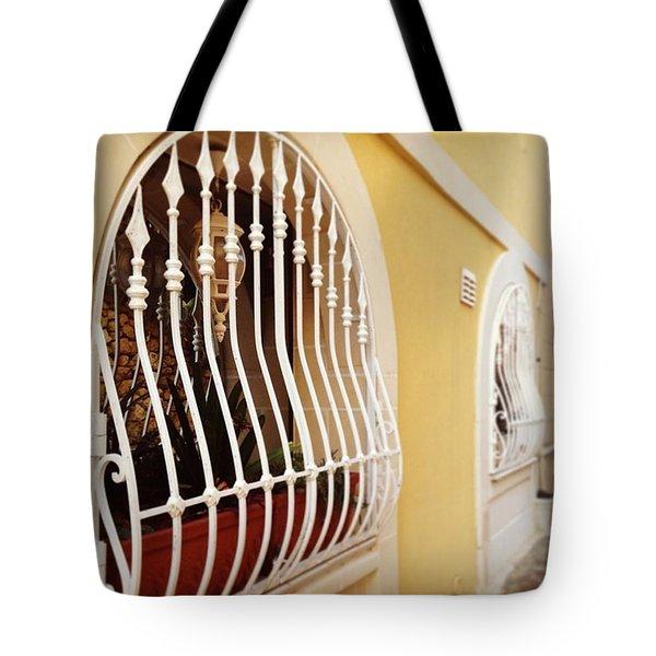 Mediterranean Windows Tote Bag by Sacha Kinser