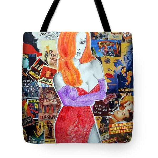 I'm Just Drawn That Way --v.2 -- Jessica Rabbit Portrait Tote Bag