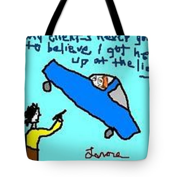 I'm Late Tote Bag by Lenore Senior
