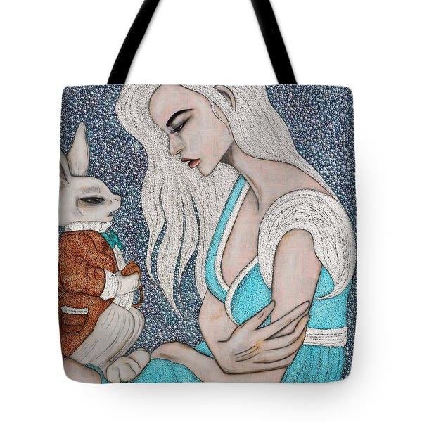 I'm Late Tote Bag by Natalie Briney