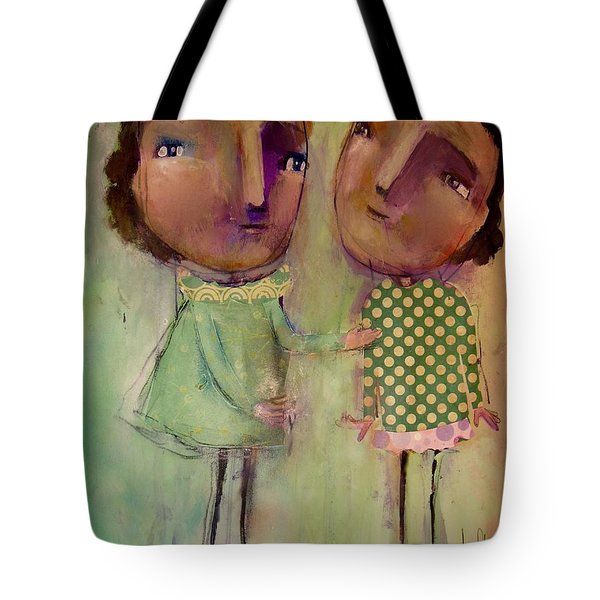 Tote Bag featuring the painting I'm Listening by Eleatta Diver