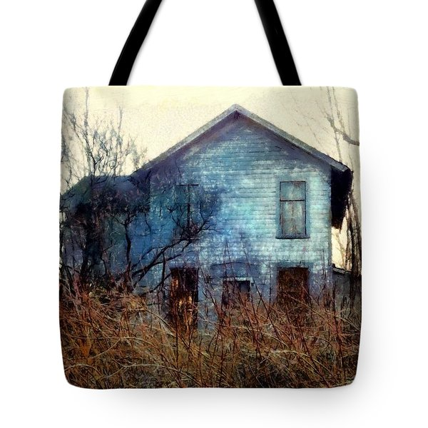 Tote Bag featuring the photograph I'm Not Home Right Now, Please Leave A Message - Abandoned Farmhouse by Janine Riley