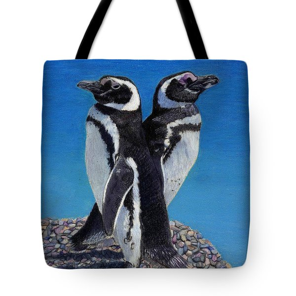 I'm Not Talking To You - Penguins Tote Bag