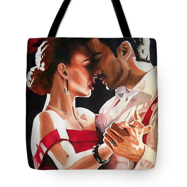 Tote Bag featuring the painting I'm Passionately Yours by Michal Madison
