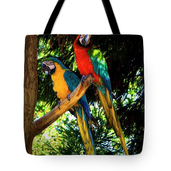 Image Of The Parrott Tote Bag