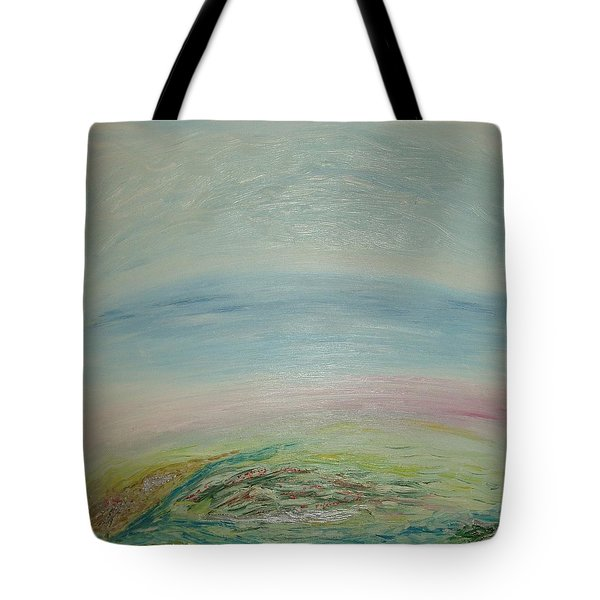 Imagination 7. Landscape. Three Dimensions. View From The Sky. Tote Bag