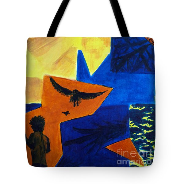 Tote Bag featuring the painting Imagination by Maria Langgle