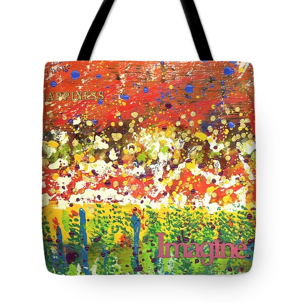 Imagine Happiness Tote Bag
