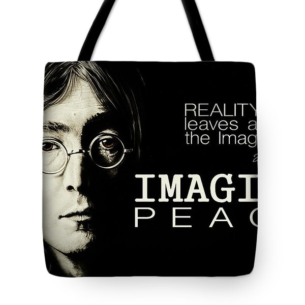 Imagine Peace- John Lennon Tote Bag