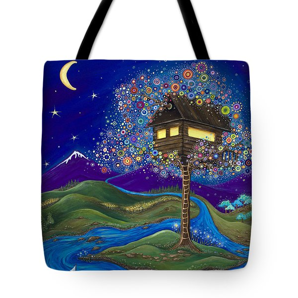 Tote Bag featuring the painting Imagine by Tanielle Childers