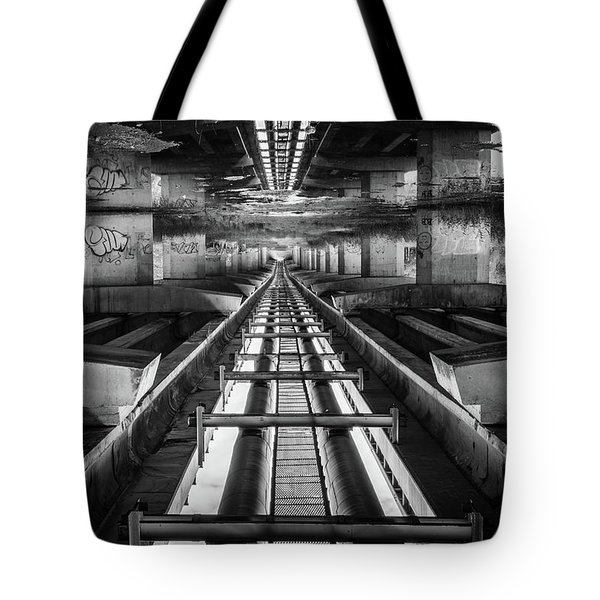 Imaginery Tracks Tote Bag