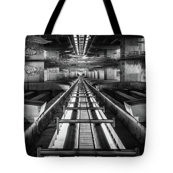 Imaginery Tracks Tote Bag