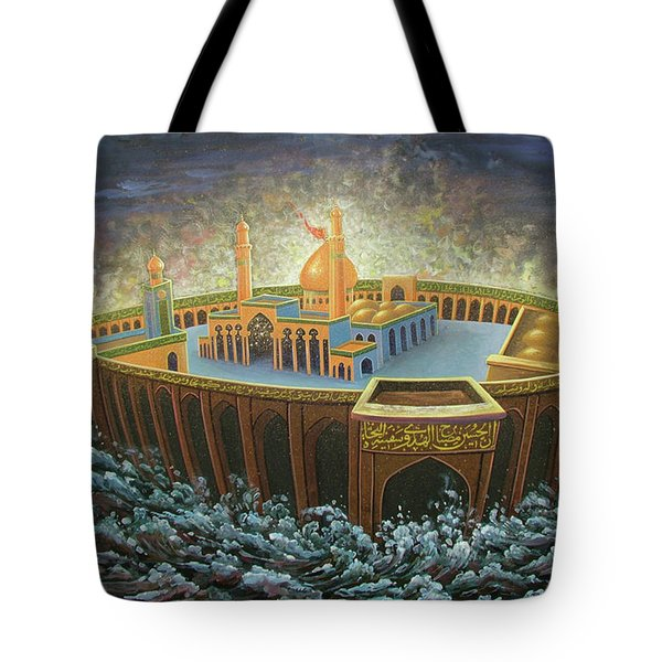 Imams Hussain  Tote Bag by Reza Badrossama