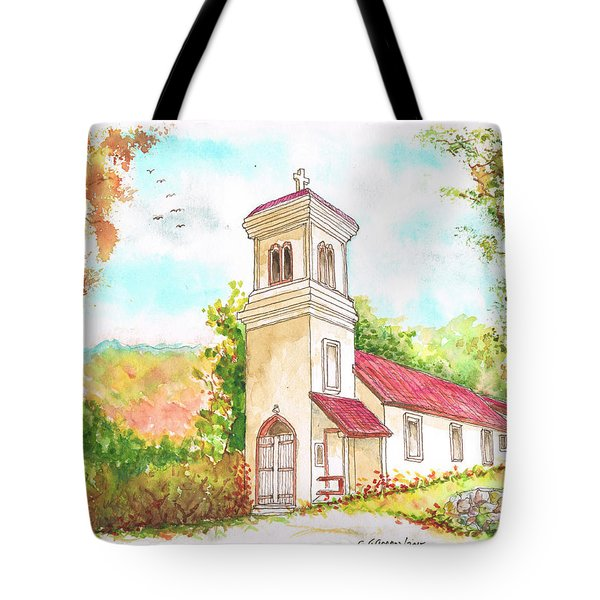 Immaculate Concepcion Catholic Church, Sierra Nevada, California Tote Bag
