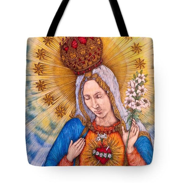 Immaculate Heart Of Virgin Mary Tote Bag by Kent Chua