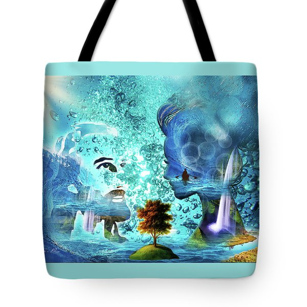 Tote Bag featuring the digital art  Immersed by Jennifer Page