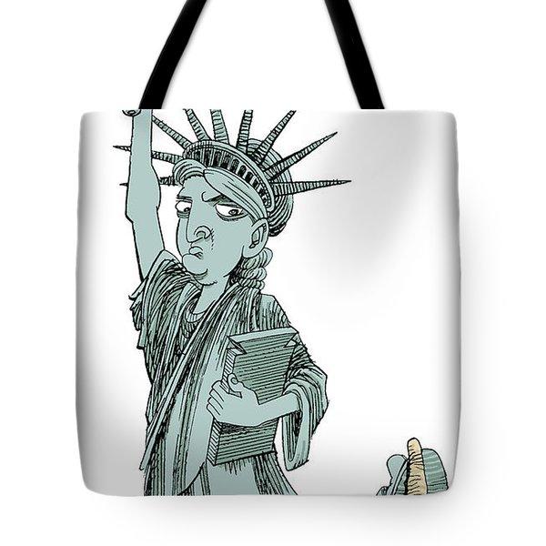 Immigration And Liberty Tote Bag