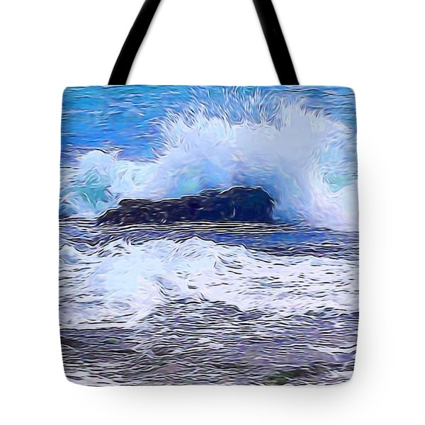 Ocean Impact In Abstract 1 Tote Bag