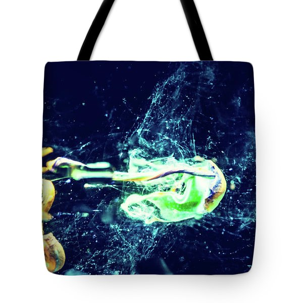 Impact - Pouring Photography Abstract Tote Bag by Modern Art Prints