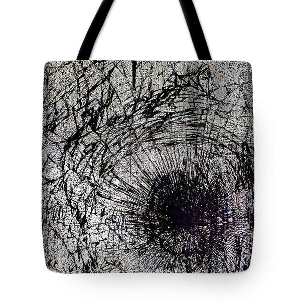 Tote Bag featuring the mixed media Impact by Tony Rubino