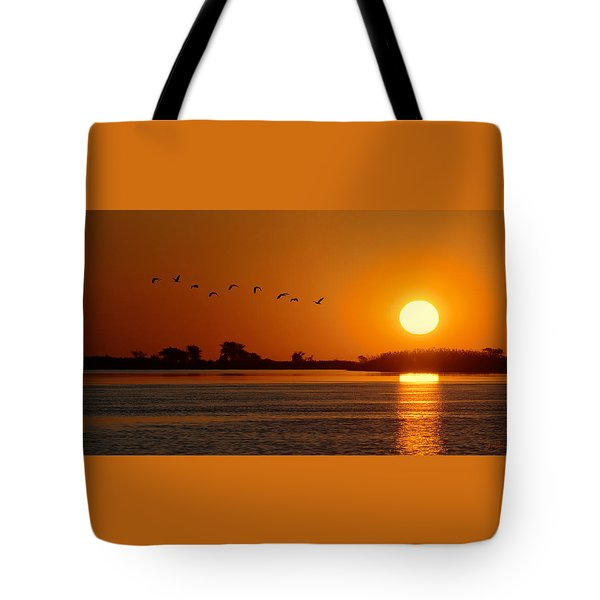 Impalila Island Sunset No. 1 Tote Bag by Joe Bonita
