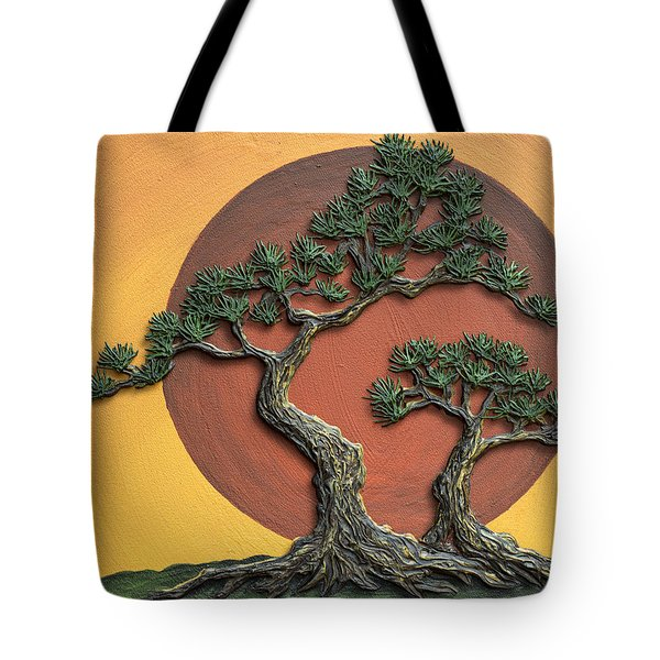 Impasto - Bonsai With Sun - One Tote Bag