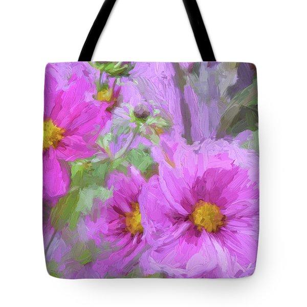 Impasto Cosmos Tote Bag by Bonnie Bruno