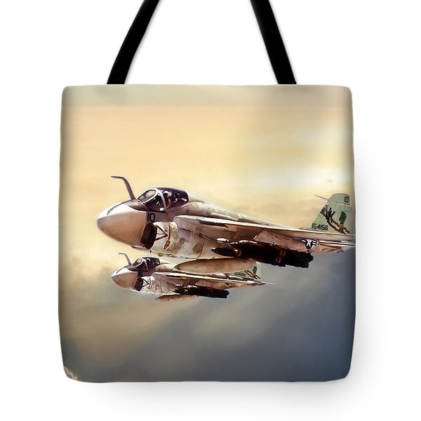 Impending Intrusion Tote Bag by Peter Chilelli