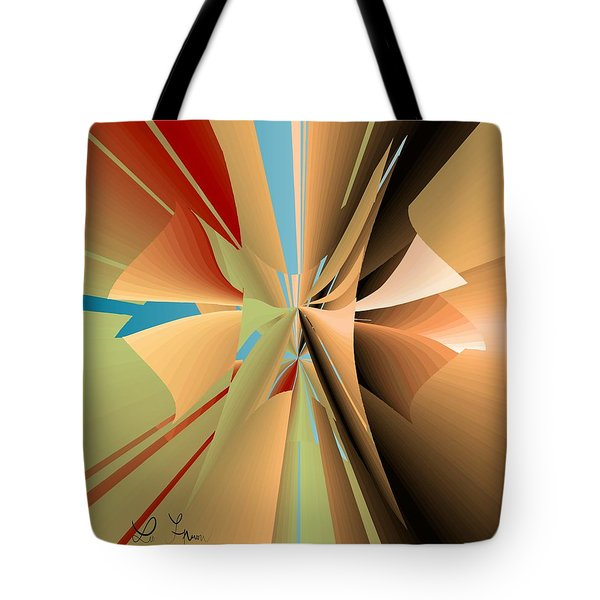 Tote Bag featuring the digital art Imperfection And Harmony by Leo Symon