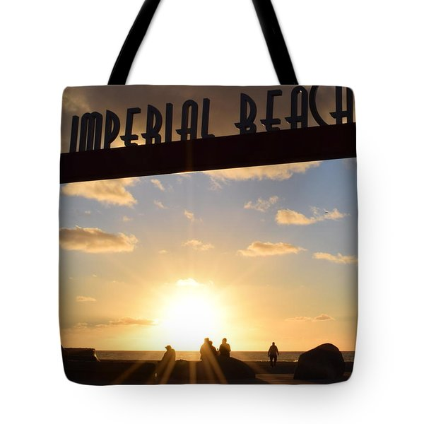 Imperial Beach At Sunset Tote Bag