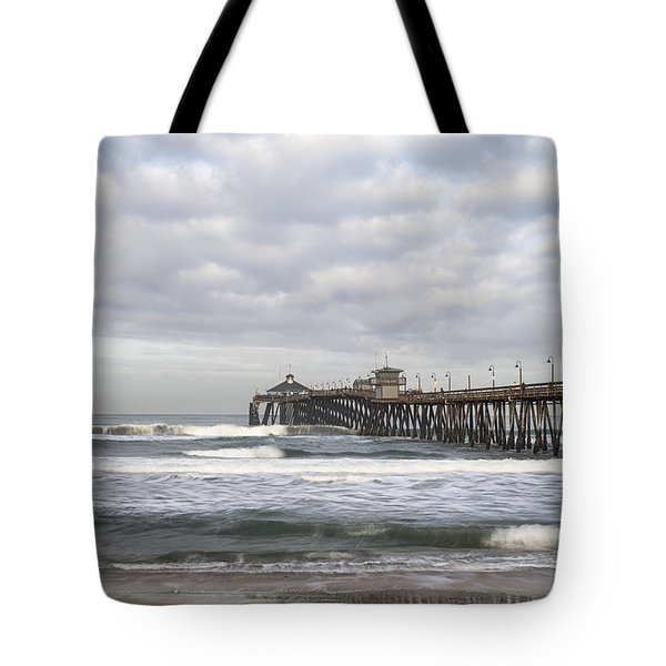 Imperial Beach Pier Tote Bag by Joseph S Giacalone