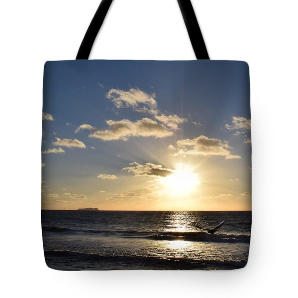Sunset Reflection At Imperrial Beach Tote Bag