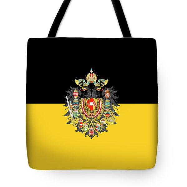 Tote Bag featuring the digital art Habsburg Flag With Imperial Coat Of Arms 1 by Helga Novelli