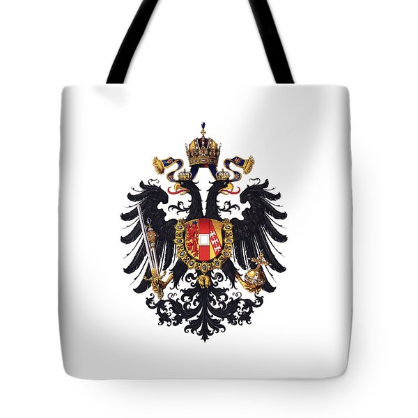 Tote Bag featuring the drawing Imperial Coat Of Arms Of The Empire Of Austria-hungary 1815 Transparent by Hugo Gerard Stroehl