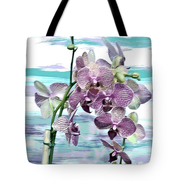 Imperial Orchids Tote Bag by Marsha Heiken