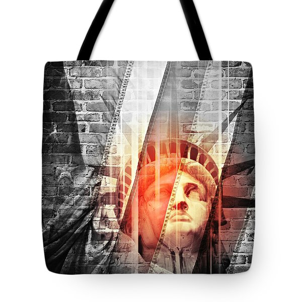 Imperiled Liberty II Tote Bag
