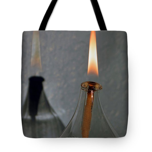 Impossible Shadow Oil Lamp Tote Bag