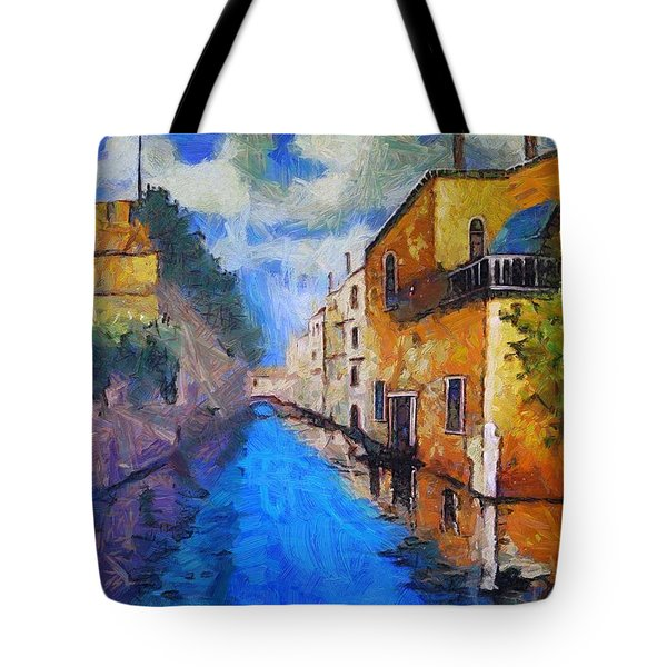 Impressionist D'art At The Canal Tote Bag
