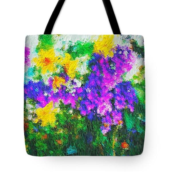 Impressionist Floral Tote Bag
