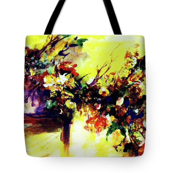 Impressionist Flowers #112, Tote Bag by Donald k Hall