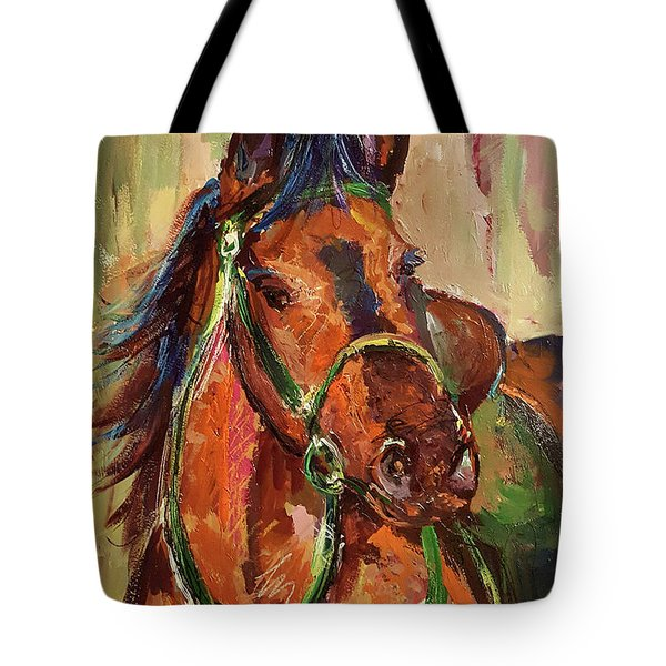 Impressionist Horse Tote Bag by Janet Garcia