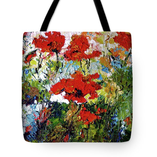 Impressionist Red Poppies Provencale Tote Bag