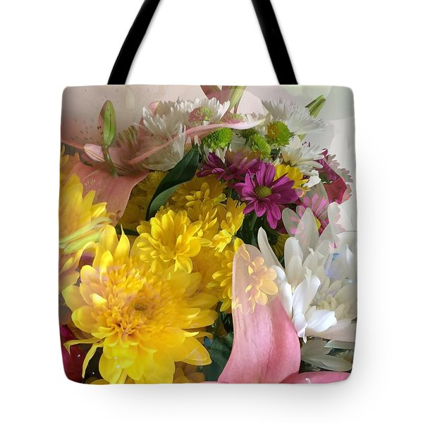 Impressionist Spring Bouquet Tote Bag