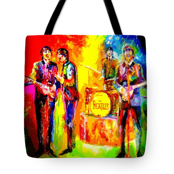 Impressionistc Beatles  Tote Bag by Leland Castro
